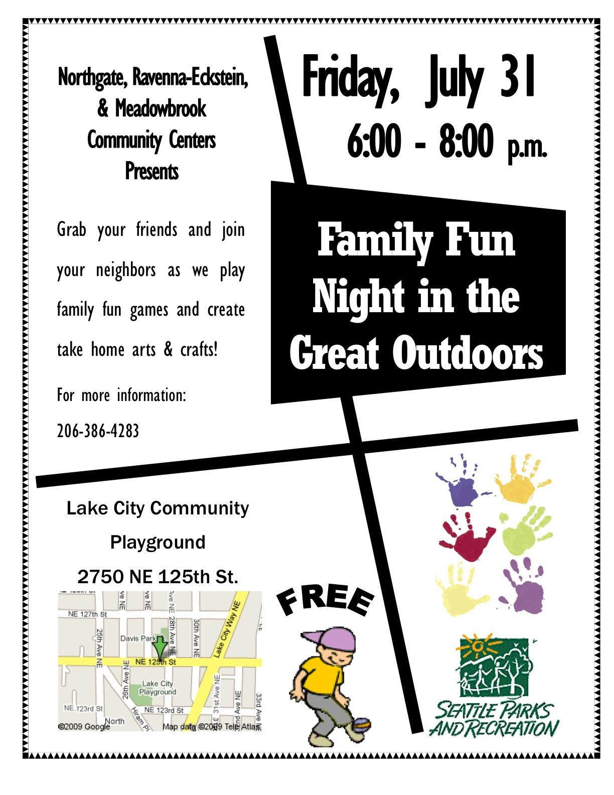 Free family fun: Friday, July 31st « Pinehurst Seattle