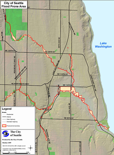 Seattle Updates The Thornton Creek Watershed Flood Zones