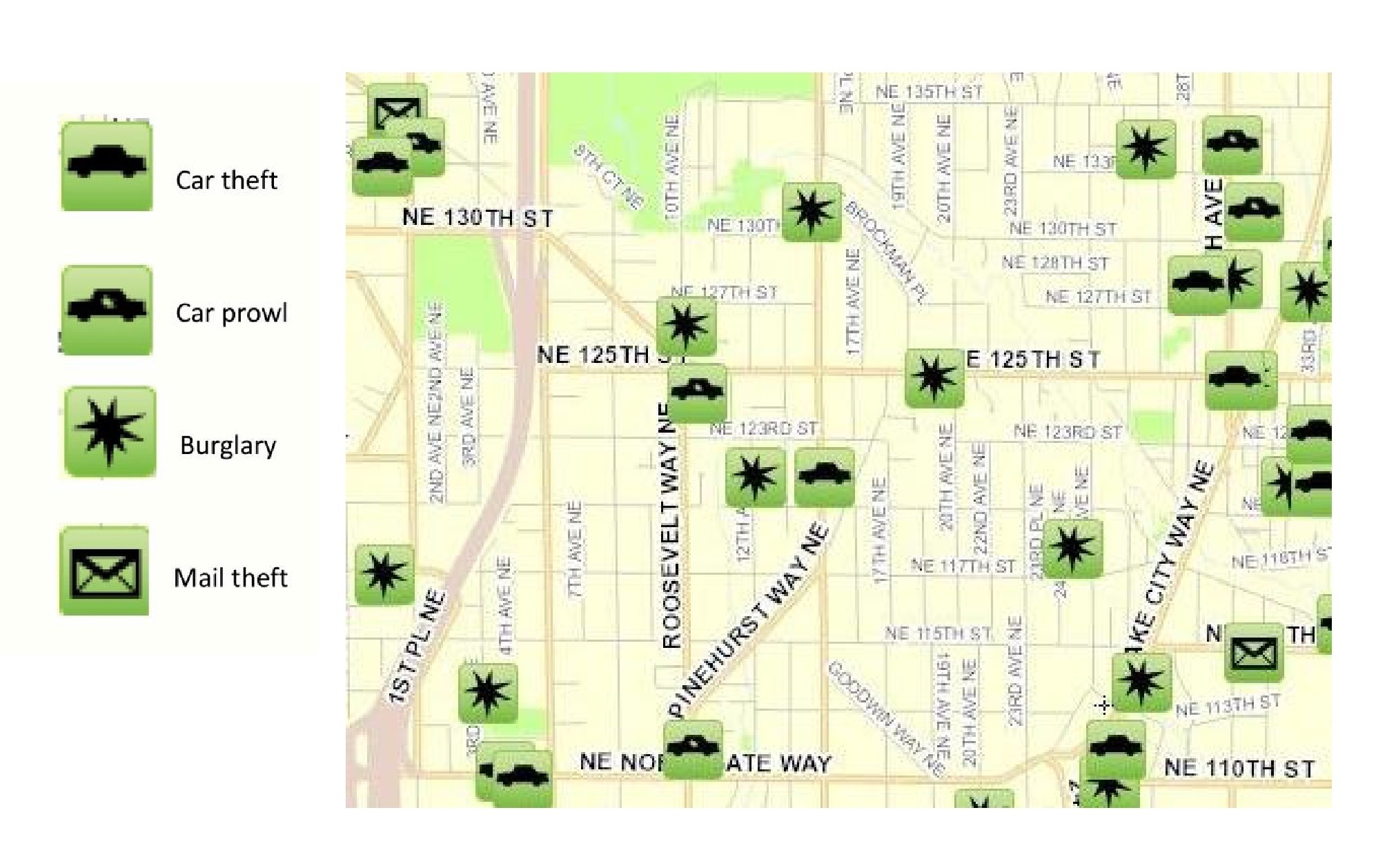 August 2012 Pinehurst Crime Map « Pinehurst Seattle