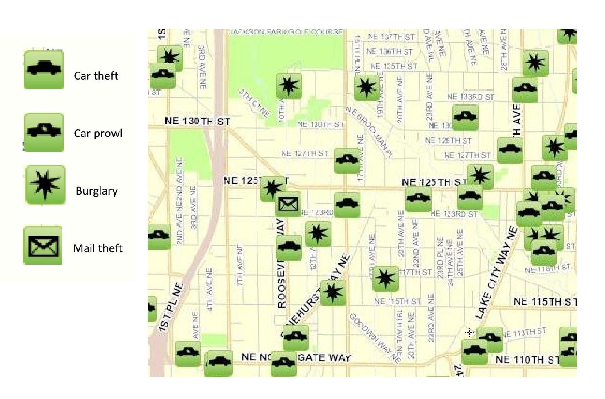 September 2012 Pinehurst Crime Map « Pinehurst Seattle