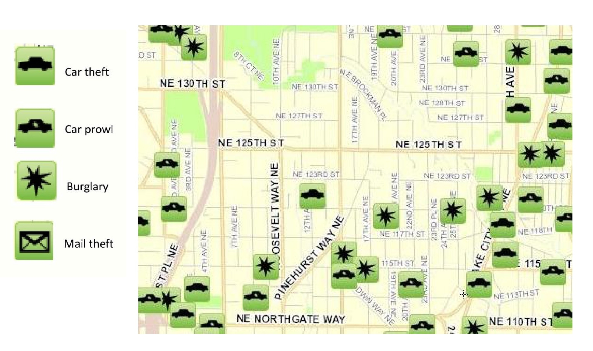 October 2012 Pinehurst Crime Map « Pinehurst Seattle