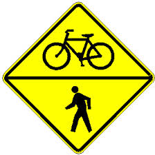 Bike And Pedestrian Sign