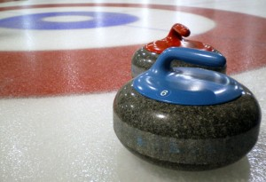 curling rocks nearing house