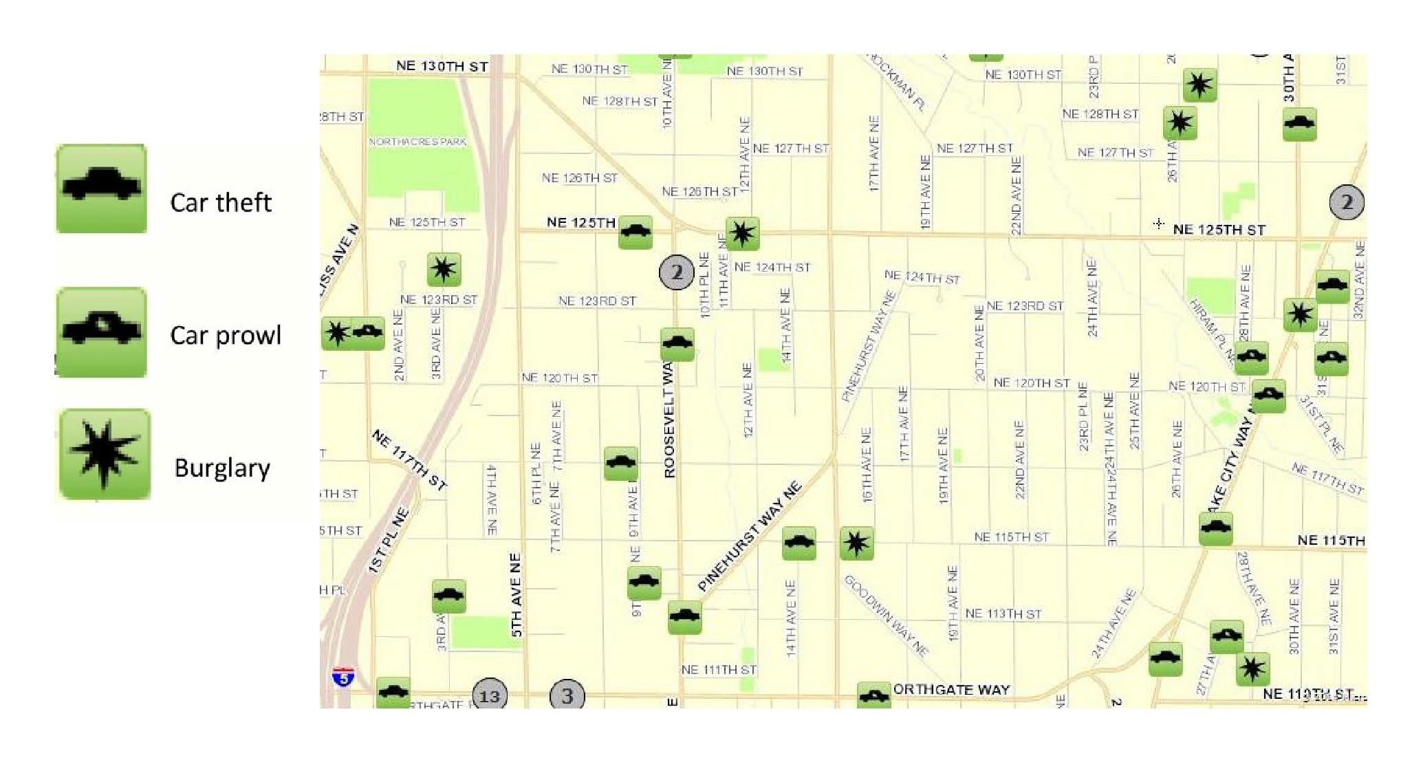 November 2014 Pinehurst Crime Map  Pinehurst Seattle