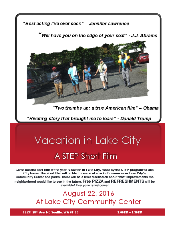 Lake City Teen Flyer