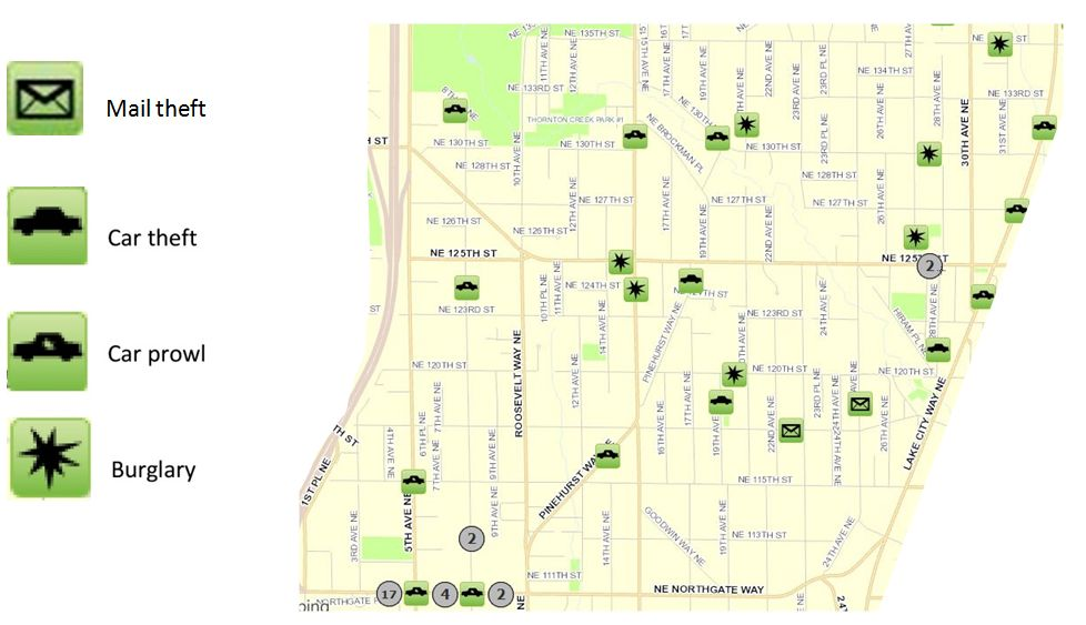 November 2016 Pinehurst Crime Map « Pinehurst Seattle