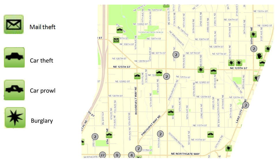 December 2016 Pinehurst Crime Map  Pinehurst Seattle