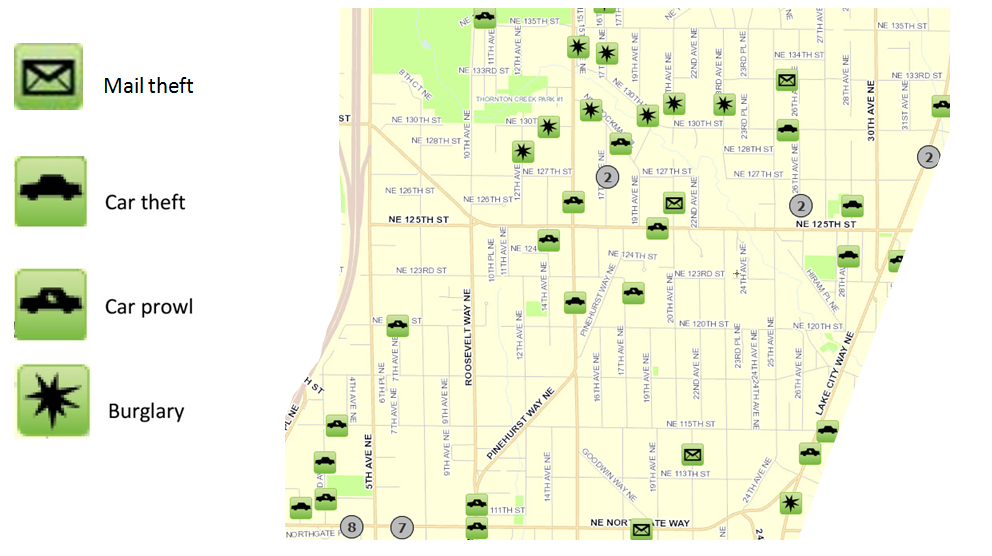 January 2017 Pinehurst Crime Map « Pinehurst Seattle