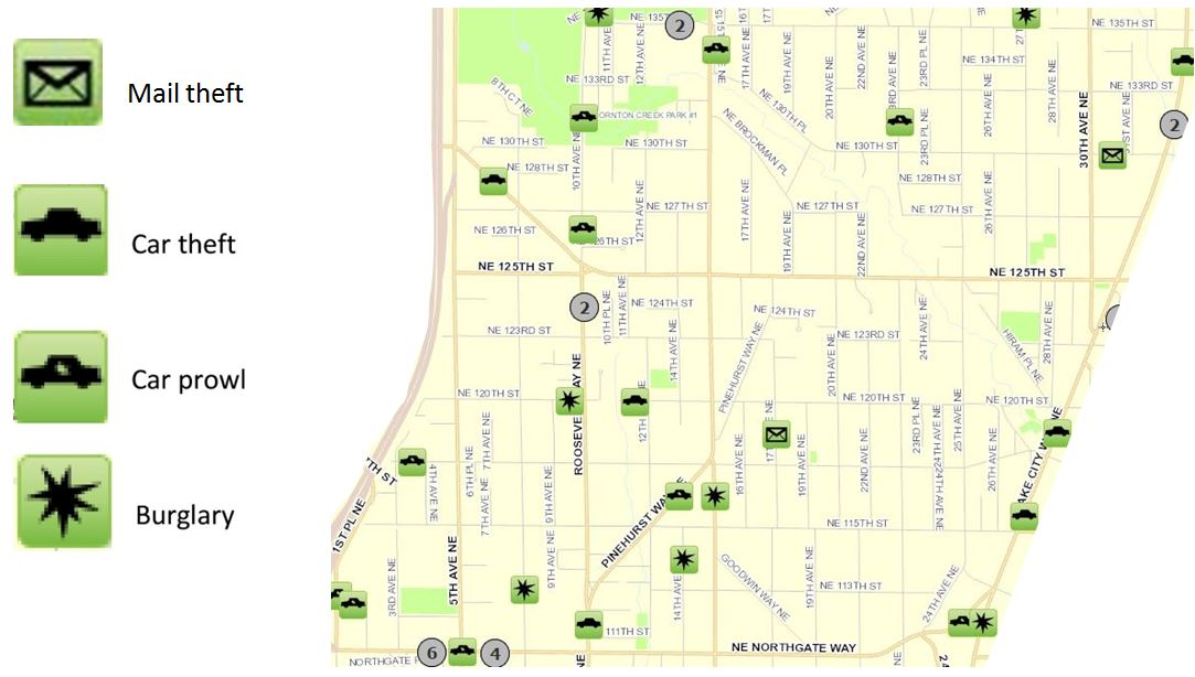 March 2017 Pinehurst Crime Map « Pinehurst Seattle