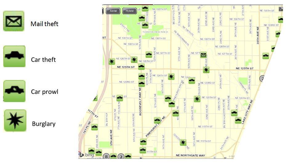 April 2017 Pinehurst Crime Map « Pinehurst Seattle